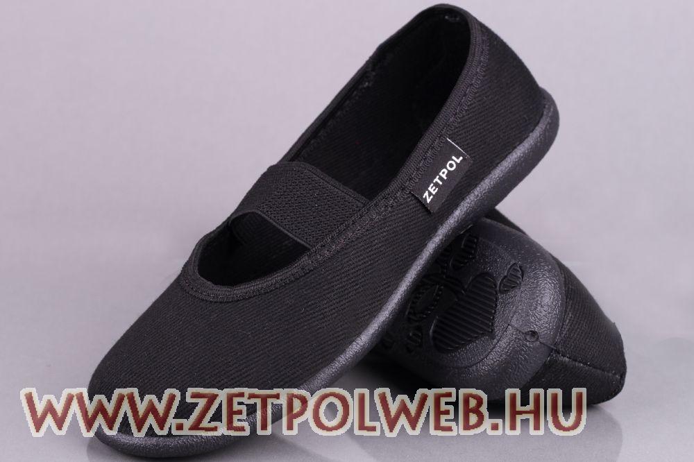 bfe5439ffd IGA 01 FEKETE vászoncipő - Gyerekcipő webáruház lengyel gyermekcipők ...