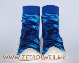 Zoknicipő fiú kék-tarka