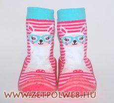 Zoknicipő rózsaszín csíkos - Gyerekcipő webáruház lengyel gyermekcipők 44755eb852
