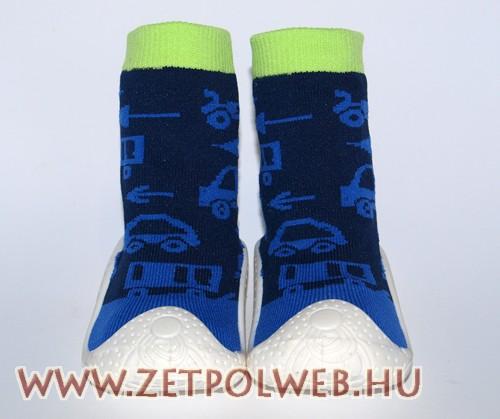 Zoknicipő sötétkék autós - Gyerekcipő webáruház lengyel gyermekcipők ... 7538af13a7